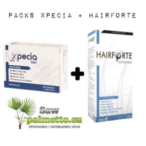 Packung Xpecia Tablette + Hairforte