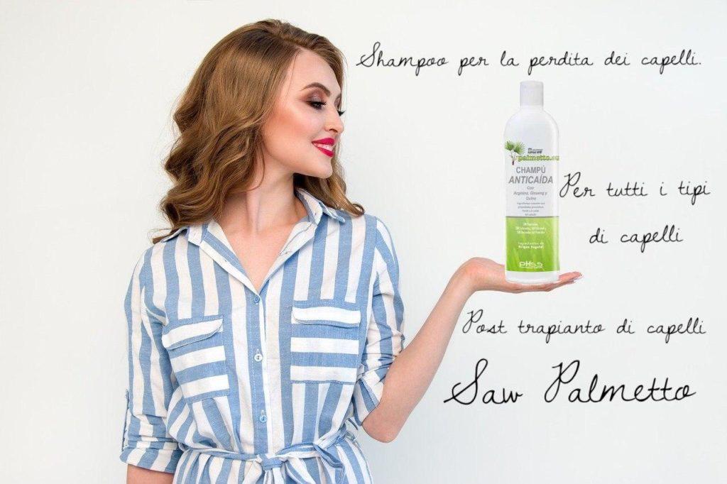 shampoo anticaduta con Saw Palmetto